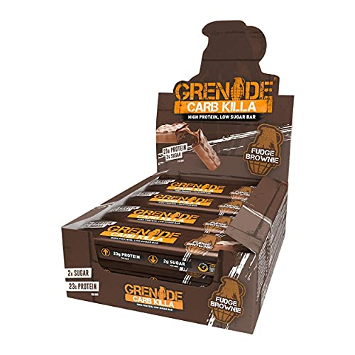 Grenade Carb Killa High Protein and Low Carb Bar, 12 x 60 g - Fudge Brow