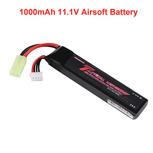 1000mAh Airsoft Battery 11.1V LiPo Battery Pack 20C 3S LiPo Battery para Airsoft G36C, M4A1-RIS, M4A1, CAR15, MP5A5, MC51, FNP90, AUGRT,...