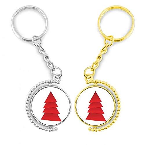 DIYthinker Resumen del Árbol de Navidad del origami diagrama el anillo de metal dorado llavero – llaves de la llave