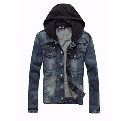 Prime Men's Denim Jacket Slim Fit Casual Jacket DJBH-01 (LWF, L)