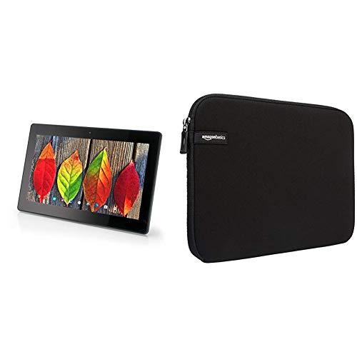 Xoro MegaPAD 1404 V2 35,56 cm (14 Zoll) Tablet-PC (QuadCore Cortex A17 1.8GHz, 2GB RAM, 16GB Flashspeicher) schwarz & AmazonBasics Schutzhülle für Laptops mit Einer Bildschirmdiagonale von 35,8cm