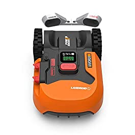 WORX Tondeuse Robot connectée/Tondeuse à Gazon sans Fil LANDROID WR901E(WR130E+ACS), jusqu'à 300m² (Tond sous la Pluie…