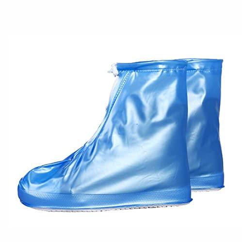 brrCVE 1 par de Fundas Reutilizables para Zapatos con Bolsa de Transporte, Transparentes, cómodas y Ligeras, Impermeables, Ideales para conciertos, Laboratorios, Correr (Blue,2XL)