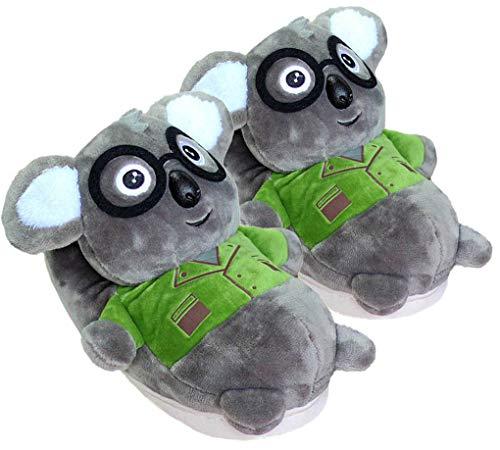 3D Winter niedlichen Tier Form plüsch Haus Hausschuhe Mode warme Tier Cosplay Indoor Schuhe für Frauen (Koala)