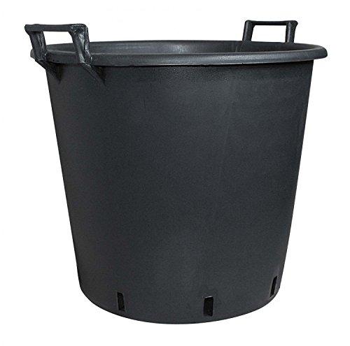 Pflanzcontainer aus Kunststoff mit Griff Schwarz 65 cm