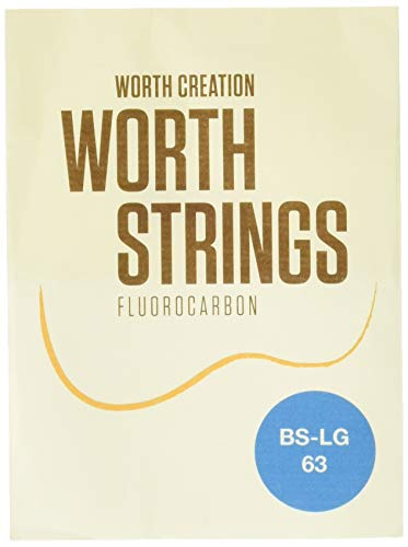 Worth Strings, Low-G Ukulelen-Saiten, Brown Fluoro-Carbon, für Tenor-Ukulele, Heavy (0.0224-0.0291-0.0319-0.0358)