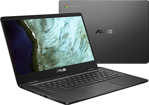 Product Image 1: 2021 ASUS 14″ Light Thin Chromebook Student Laptop, Intel Celeron N3350, 4GB RAM 32GB eMMC, Webcam, Chrome OS(Google Classroom Zoom Compatible) Bundle W/ GM 3in1 Accessories