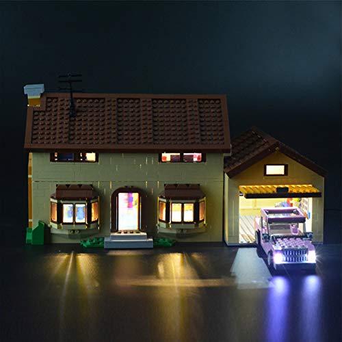iCUANUTY Kit de Iluminación LED para Lego 71006, Kit de Luces Compatible con Lego La Casa De Los Simpsons (No Incluye Modelo Lego)