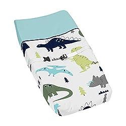 6. Sweet Jojo Designs Dinosaur Changing Pad Cover