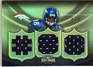 2010 Topps Triple Threads Relic Gold #TTR24 Demaryius Thomas Game-Worn Jersey Card Serial #'d/9 - Broncos