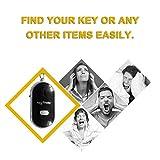 LED Whistle Key Finder Clignotant Bip Alarme de Contrôle Sonore Anti-Perdu Keyfinder Locator Tracker avec Porte-clés+Noir