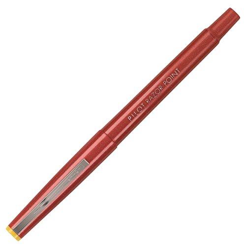 Pilot Razor Point Porous Point Pen MARKER,RAZOR PT,X-FIN,RD (Pack of 6)