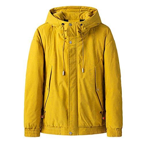 Masoness 🧥🧥 Neue Art und Weisemänner Winter beiläufiger Normallack mit Kapuze Warmer Baumwollkleidungs Mantel,Einfarbige lässige Kapuzenjacke