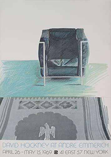 1969 David Hockney le Corbusier silla y alfombra (SM) Poster