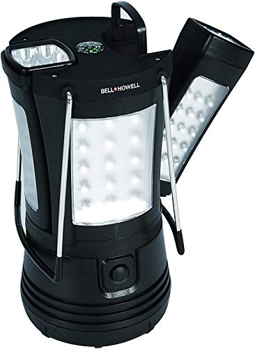 Bell + Howell Super Torch Lantern with 2 Flashlights, Black, 7