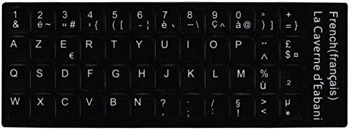 Armormicro Aufkleber für Tastaturen, schwarz, AZERTY-Tastatur für Benutzer von belgischen, französischen Tastaturen, Umwandlung, QWERTY-Tastatur, AZERTY
