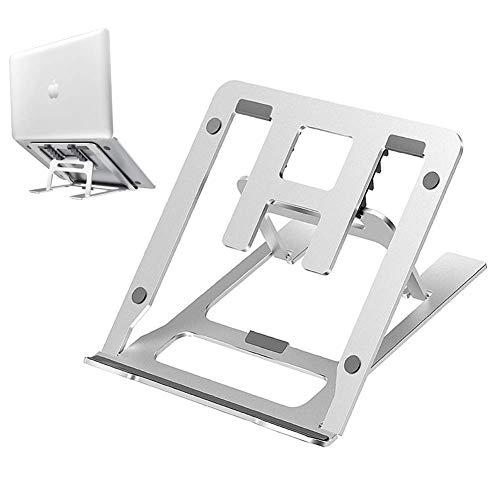 BACAKSY Soporte Ordenador Portátil, Aluminio Liviano Plegable Ventilado Soporte Portatil Mesa Ergonomic...
