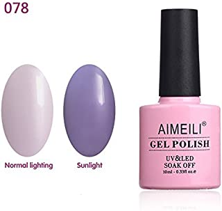 AIMEILI Soak Off UV LED Sun Play Collection Light Color Changing Gel Nail Polish - Hot Jelly (078) 10ml