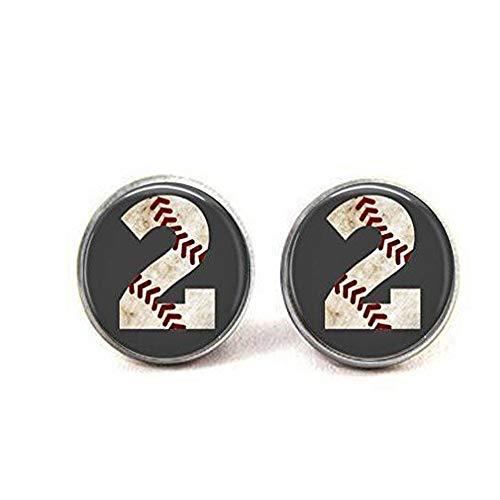 ASA Baseball Ohrringe Custom Baseball Nummer Ohrringe Baseball Baseball Zubehör