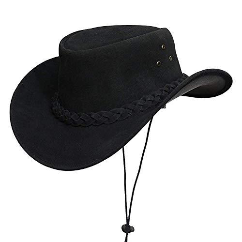 Australian Leather Original Cowboy Aussie Bush Hat (2X-Large Black)