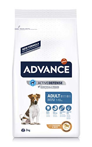 Advance pienso para Perro Mini Adult Pollo y Arroz 3 kg – Pack de 5