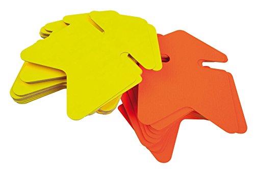 Apli Agipa 021950-FLU Packung mit 50 Etiketten für den Point of Sale in Karton Fluo 12 x 16 cm, Gelb / Orange