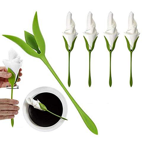 JKKJ 16 servilleteros de flores para mesas, soporte de toalla de papel...