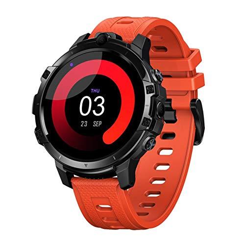 Prettyia Smartwatch del Negocio de La Aptitud 4G, Octa Core 4GB + 64GB para Android 10, Cámara Dual, Podómetro - Naranja