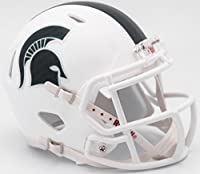 Riddell NCAA Michigan State Spartans Helmet Mini SpeedHelmet Replica Mini Speed Style 2017 Alternate, Team Colors, One Size