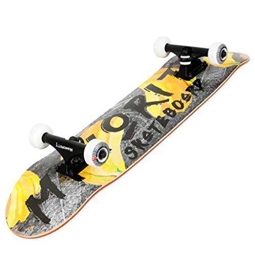 YXD Shortboard Skateboard U-fouml;rmiges Skateboard Skater Mauml;nnlicher Student Skateboard Kleines Rad Skateboard Skill Action Skateboard