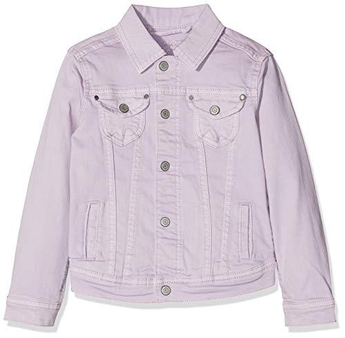 Pepe Jeans New Berry Chaqueta de jean, Morado (Washed Lilac 424), 6 años para Niñas