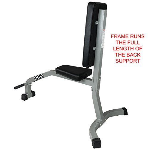 Valor Fitness DG-2 Stationary Upright Bench for Seated Shoulder Presses, Bicep Curls, and Tricep Extensions in a Home or Garage Gym