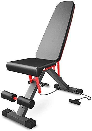YLCJ Verstellbare Hantelbank 3-in-1-Utility-Sitzbänke für Flache/geneigte/abfallende Übungen - einfach zu Falten für zu Hause, Fitness im Fitnessstudio