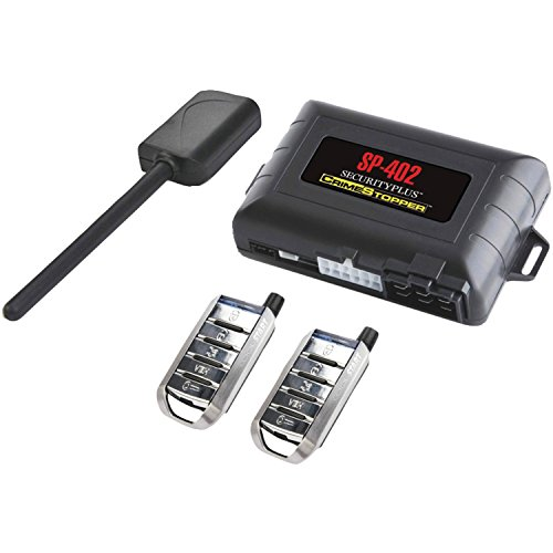 Crimestopper SP-402 Car Alarm with Remote Start, Keyless Entry and Engine Disable,Black