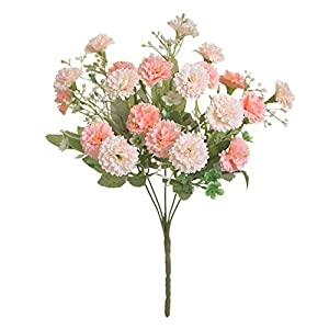Silk Flower Arrangements Artificial and Dried Flower 20 Flowers Small Lilac Flowers Hydrangea Wreath Party Fake Silk Flower Wedding Engagement Anniversary Decorations - ( Color: Champagne)