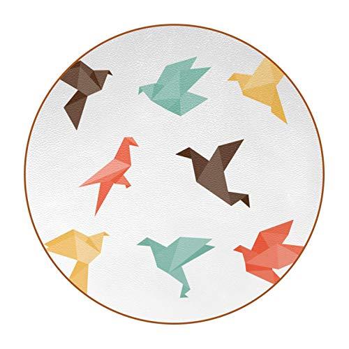 Bennigiry Origami Bird - Posavasos redondos resistentes al calor, 6 piezas