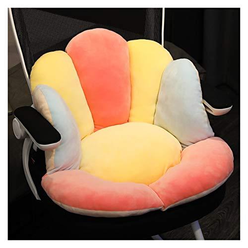 Bequeme Kissen Petal Form Unterstützung Sitzkissen Rosa Gelb Rückenkissen Wohnzimmer-Sofa-Stuhl-Kissen-Hauptdekoration (Color : Yellow, Specification : 65cm)