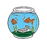 PULABO - Broche de esmalte con diseño de pecera, diseño de peces y peces de colores
