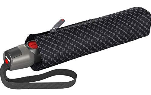 Knirps T.200 Medium Duomatic Regenschirm Taschenschirm T200 Auf-Zu Automatik sturmfest bis 140km/h mercury rock
