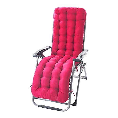 XHNXHN Cuscino per Chaise Longue da Patio, Cuscini per sedie a Sdraio per Interni/Esterni Cuscino per Divano per Sedia a Dondolo con 8 Lacci, Lettino per Chaise-Longue Imbottito Tatami Mat Matera