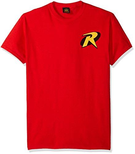 T-Shirt - Batman-Robin Logo, Red, Small