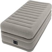 Intex PVC Prime Comfort Single Size Raised Airbed, H42.8 x W49 x D23.4 cm