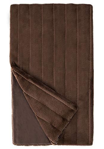 Donna Salyers' Fabulous-Furs Chocolate Mink Posh Faux Fur Throw (60x72 in) (Chocolate) -  Fabulous Furs