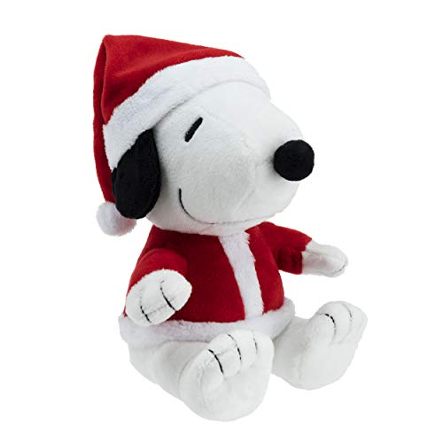 Hallmark Santa Snoopy Plush Stuffed Animal, Christmas Snoopy in Santa Hat