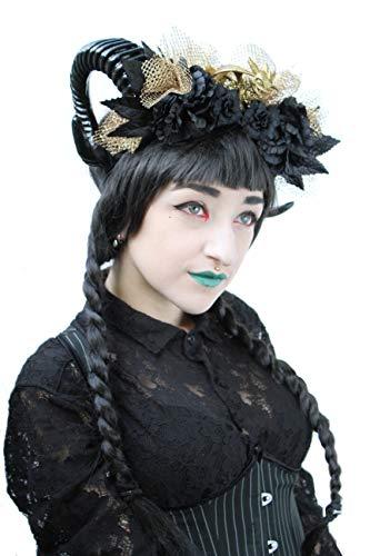 Dragon Queen Khaleesi Gotische Halloween Rams Hoorn Hoofdband Goth Kroon