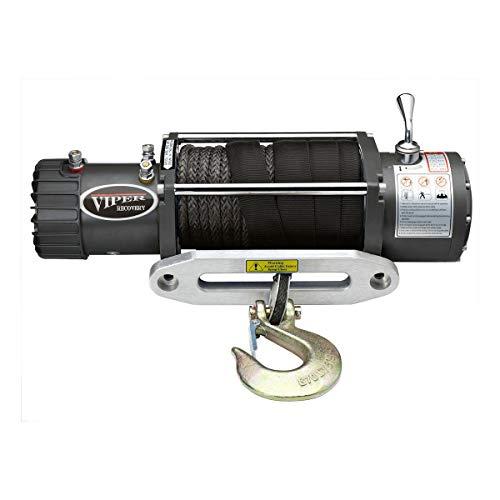 MotoAlliance VIPER Winch 12 VDC 13000lb/5897kg, Integrated Contactor, Wireless Remote, BLACK Rope
