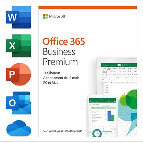 Microsoft Office 365 Business Premium 1licencia(s) 1año(s) Francés - Suites de programas (1 año(s), Francés)