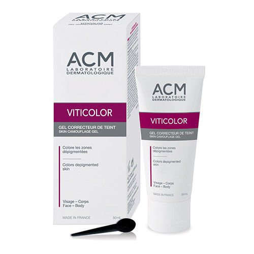 VITICOLOR SKIN CAMOUFLAGE GEL. Long lasting natural colouration for Vitiligo Skin. 50ml by Oxyvita...