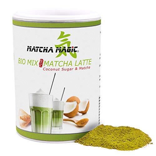MatchaMagic Matcha Latte Mix | Premium Matcha-Latte Pulver für Matcha Bio Latte, Smoothie & Co | schnell & einfach zubereitet | Mit original Matcha Tee-Pulver aus Japan | 100{7a06c5fd00714ce812e836d2e76eddba84ad1b8dae939e9803e6e56fa1df527c} Bio | 1x200g