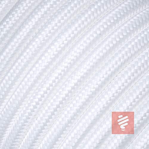 Textilkabel für Lampe, Stoffkabel 3-adrig (3x0,75mm²), Weiß - 3 Meter